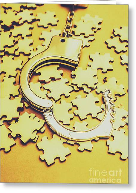 Scattered Clues In A Unsolved Investigation  Greeting Card by Jorgo Photography - Wall Art Gallery
