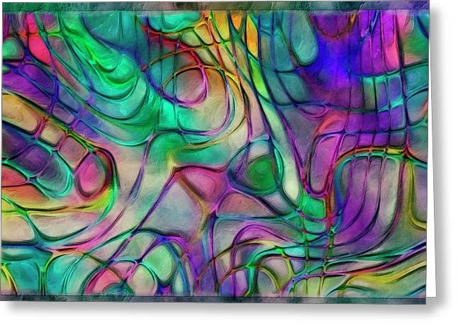 Scattered Rainbow Greeting Card by Jack Zulli