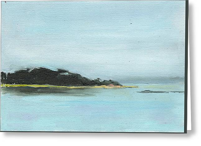 Foggy Ocean Greeting Cards - Scatteree Point West Greeting Card by Elizabeth B Tucker