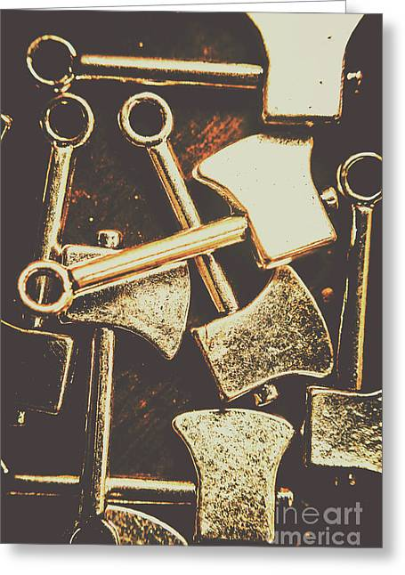 Scattering Axes Greeting Card by Jorgo Photography - Wall Art Gallery