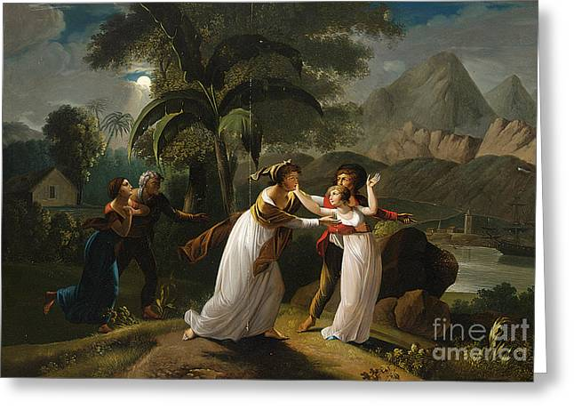 1752 Greeting Cards - Scene From The Story Of Paul And Virginie Greeting Card by Celestial Images