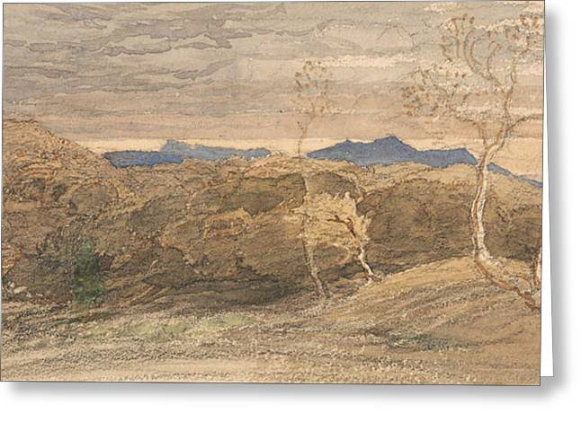 Scene In Wales Greeting Card by Samuel Palmer