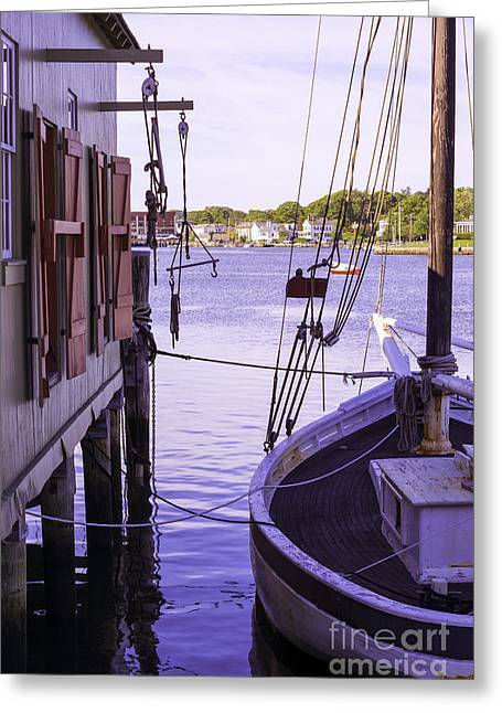 Docked Sailboat Greeting Cards - Scenic Display Greeting Card by Joe Geraci
