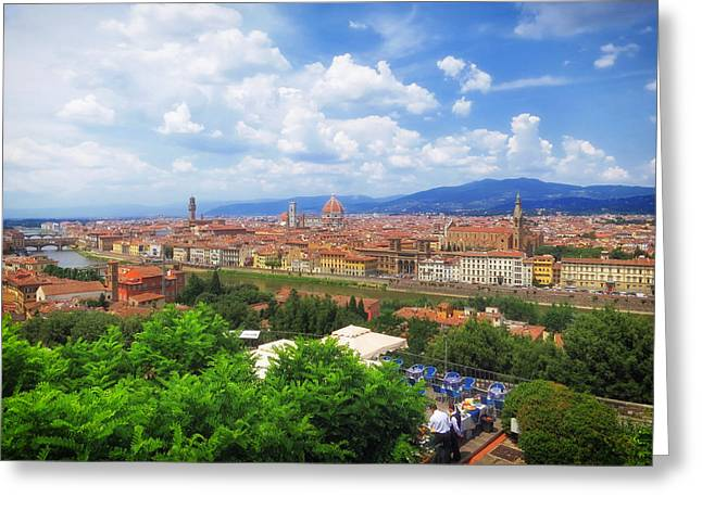 Florence Greeting Cards - Scenic Florence Greeting Card by Travel Coffee Book