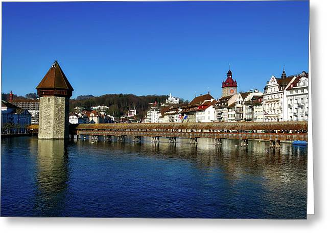 Scenic Lucerne Greeting Card by Mountain Dreams