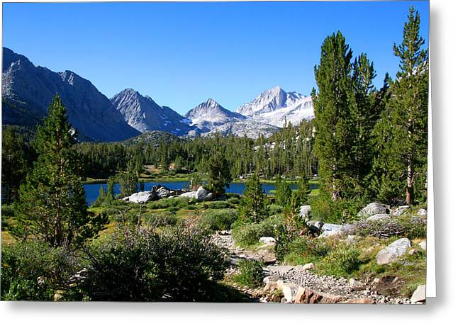 Scenic Mountain View Greeting Card by Chris Brannen
