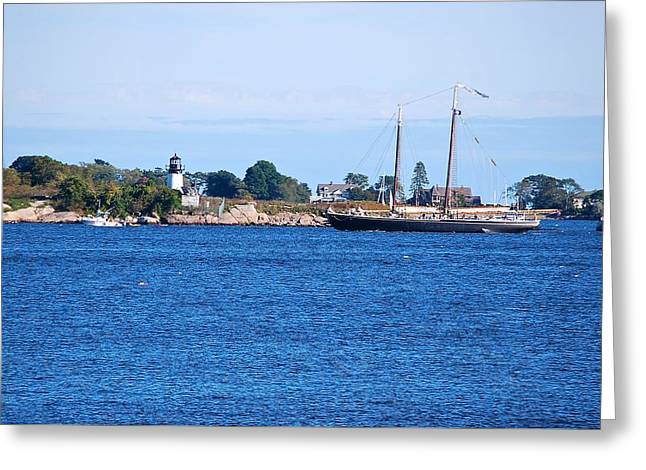 Tall Ship Greeting Cards - Scenic New England  Greeting Card by Suzanne McDonald