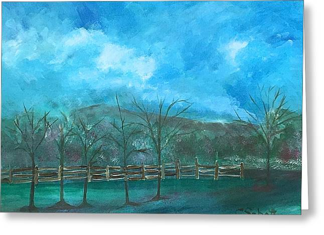 Roadway Greeting Cards - Scenic Parkway #1 Greeting Card by Christina Schott
