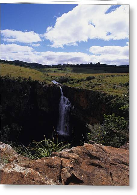 Escarpment Greeting Cards - Scenic View Of Berlin Falls In South Greeting Card by Stacy Gold