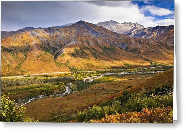 Changing Of The Seasons Greeting Cards - Scenic View Of Brooks Range, Dietrich Greeting Card by Sunny Awazuhara- Reed