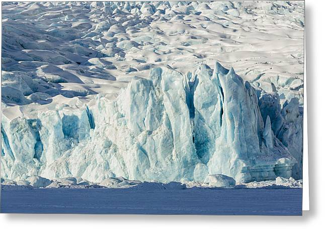 Scenic View Of The Portage Glacier Greeting Card by Ray Bulson