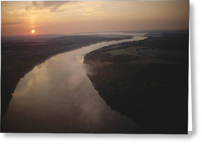 River Scenes Greeting Cards - Scenic View Of The Potomac River Greeting Card by Sam Abell