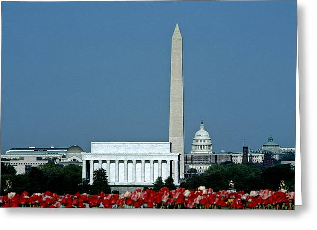 Scenic View Of Washington D.c Greeting Card by Kenneth Garrett