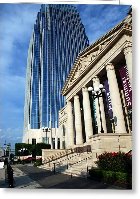 Glass Facades Greeting Cards - Schermerhorn Symphony Center Nashville Greeting Card by Susanne Van Hulst