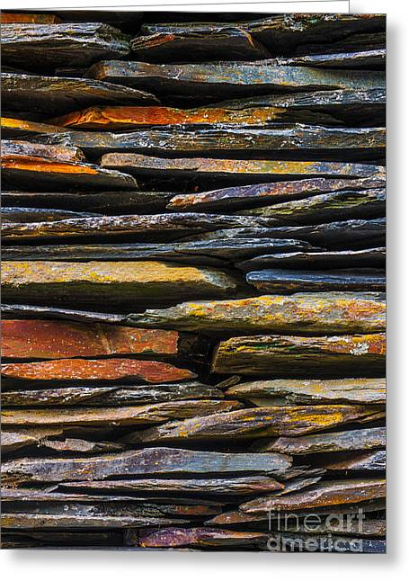 Layer Greeting Cards - Schist House detail Greeting Card by Carlos Caetano