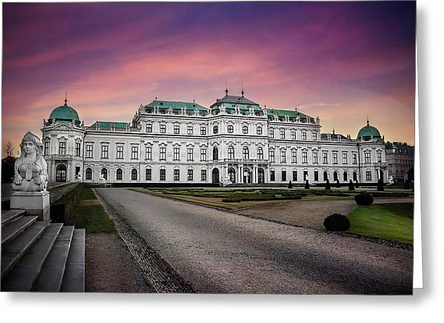 Schloss Belvedere Vienna Greeting Card by Carol Japp
