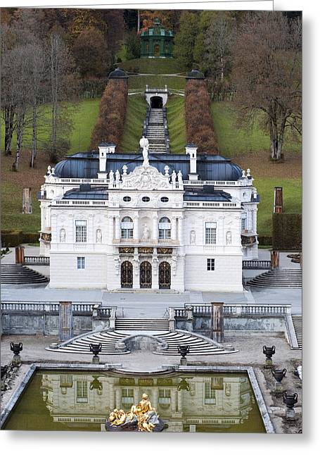 Travel Germany Greeting Cards - Schloss Linderhof Greeting Card by Andre Goncalves