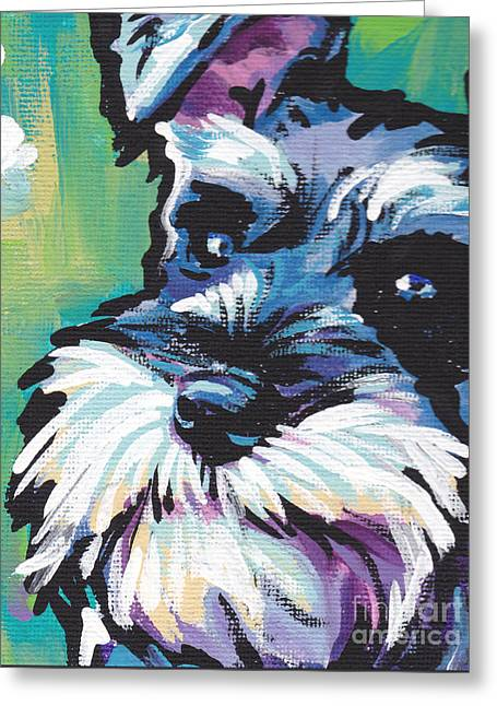 Schnauzer Art Greeting Cards - Schnauzer  Greeting Card by Lea