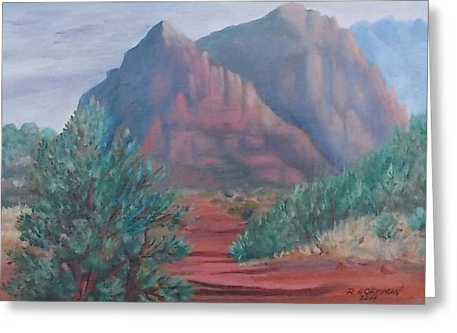 Snow Scene Landscape Greeting Cards - Schnebly Hill Trail Sedona Greeting Card by Robert Hoffman