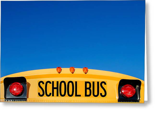 School Bus Top Greeting Card by Todd Klassy