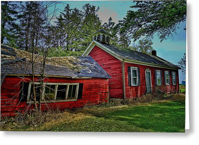 Abandoned School House. Greeting Cards - School Days Greeting Card by Sue Kennedy