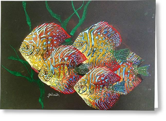 Aquarium Fish Pastels Greeting Cards - School Greeting Card by Glen Ward