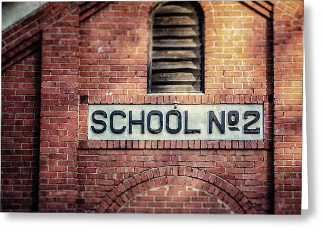Brick Schools Photographs Greeting Cards - School No. 2 Greeting Card by Lisa Russo
