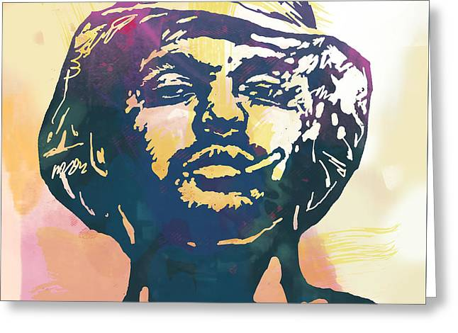 Schoolboy Q Pop Stylised Art Poster Greeting Card by Kim Wang