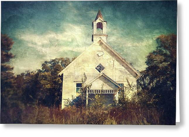 Schoolhouse 1895 Greeting Card by Scott Norris
