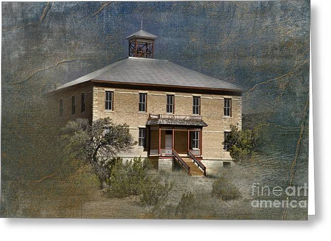 Old School Houses Greeting Cards - Schoolhouse Days Greeting Card by Sandra Bronstein