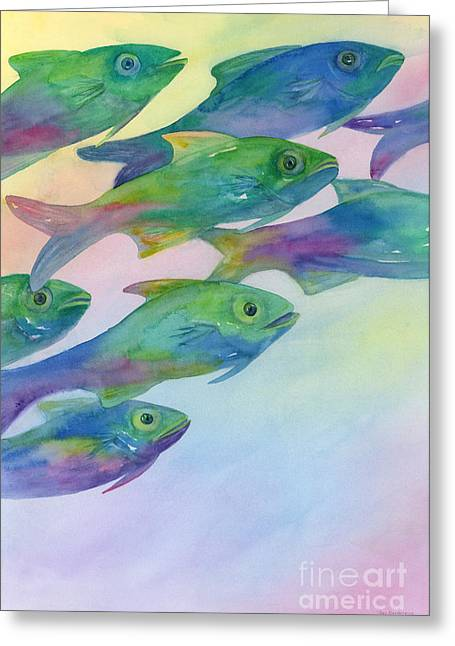 Colorful Fish Greeting Cards - Schools Out Greeting Card by Amy Kirkpatrick
