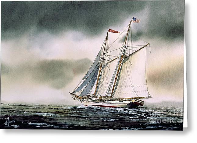 Schooner Heritage Greeting Card by James Williamson