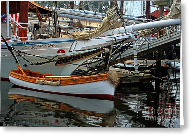 Historic Schooner Greeting Cards - Schooner Isacc H Evans Greeting Card by Jim Beckwith