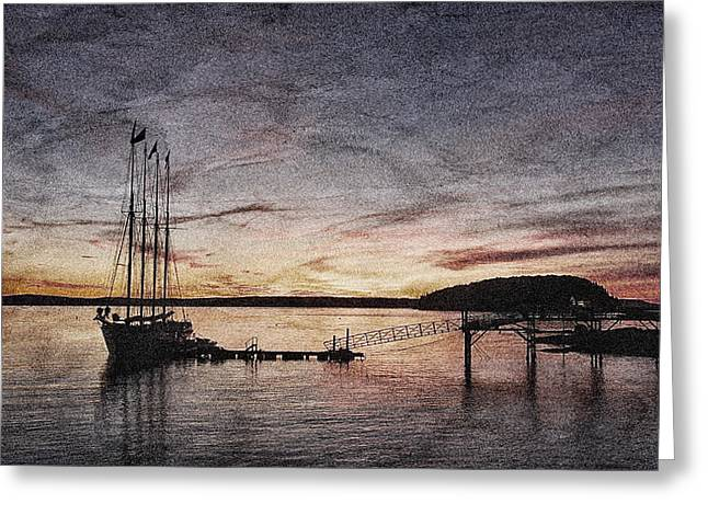Tall Ship Greeting Cards - Schooner Sunrise #4 Greeting Card by Stuart Litoff