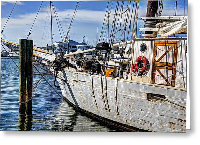 Historic Schooner Greeting Cards - Schooner Western Union Greeting Card by Mike Harlan