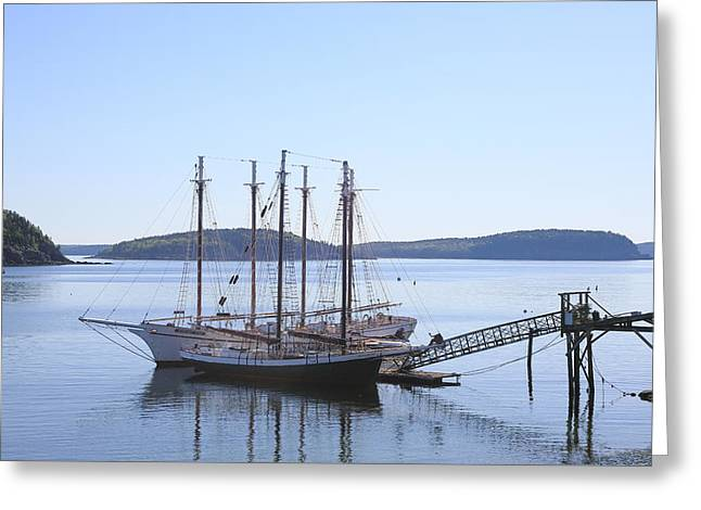Schooner Greeting Cards - Schooners  Greeting Card by Constantine Vloutely