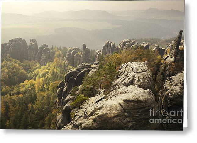 Geology Photographs Greeting Cards - Schrammstein II Greeting Card by Julie Woodhouse