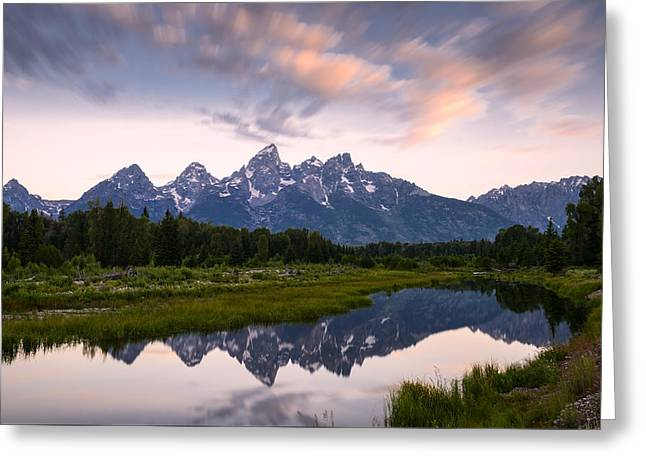 Reflections In River Greeting Cards - Schwabacher Landing in 60 Seconds Greeting Card by Dan Mihai