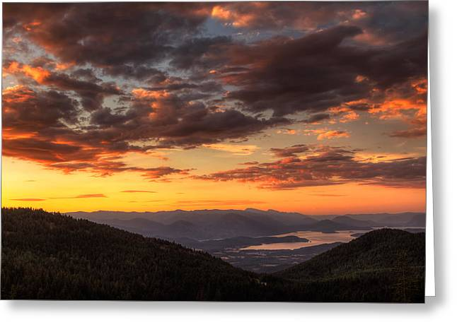 Idaho Photographs Greeting Cards - Schweitzer Mountain Sunrise Greeting Card by Mark Kiver