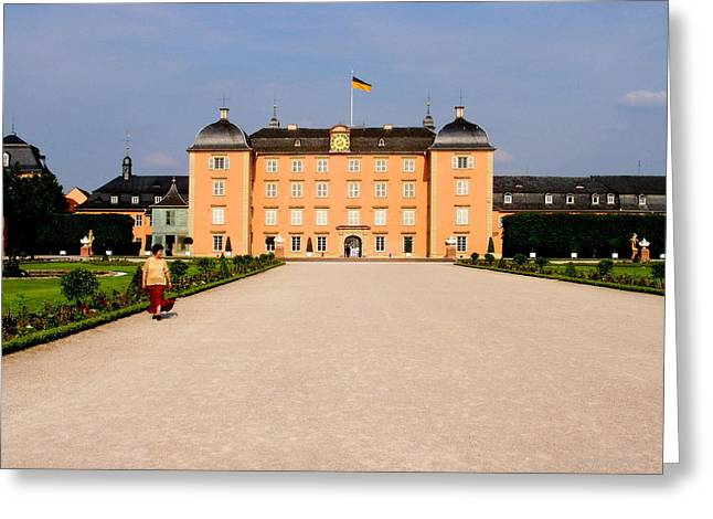 City Scapes Greeting Cards Greeting Cards - Schwetzingen Castle Greeting Card by Deborah  Crew-Johnson