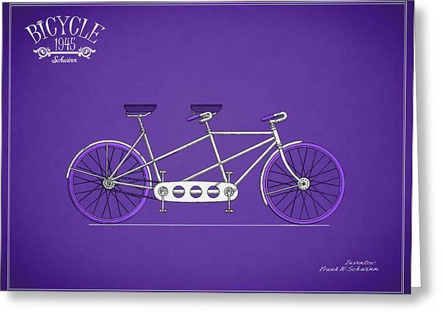 Vintage Bicycle Photographs Greeting Cards - Schwinn Bicycle 1945 Greeting Card by Mark Rogan