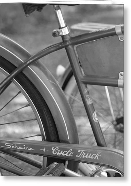 Vintage Bicycle Greeting Cards - Schwinn Cycle Truck Greeting Card by Lauri Novak
