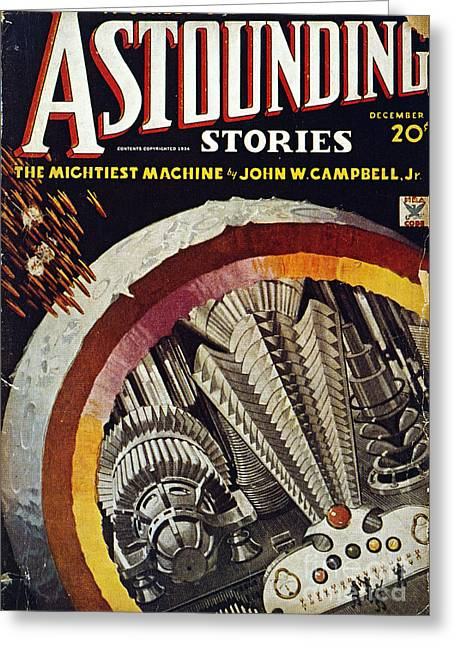 Astounding Science Fiction Greeting Cards - Science Fiction Cover, 1934 Greeting Card by Granger
