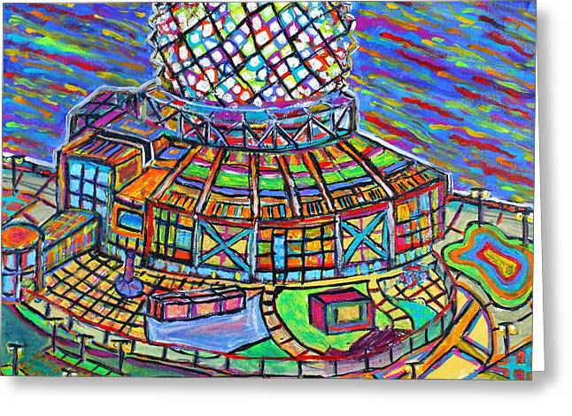Science World, Vancouver, Alive In Color Greeting Card by Jeremy Aiyadurai