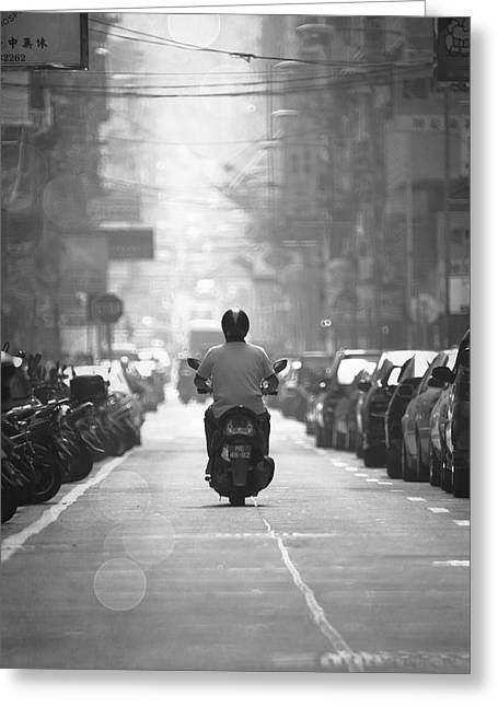 Streetview Greeting Cards - Scooter Greeting Card by Kam Chuen Dung