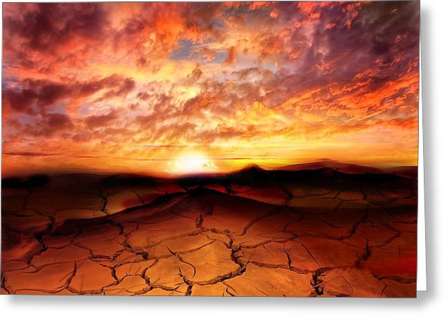 Dreamscapes Greeting Cards - Scorched Earth Greeting Card by Photodream Art