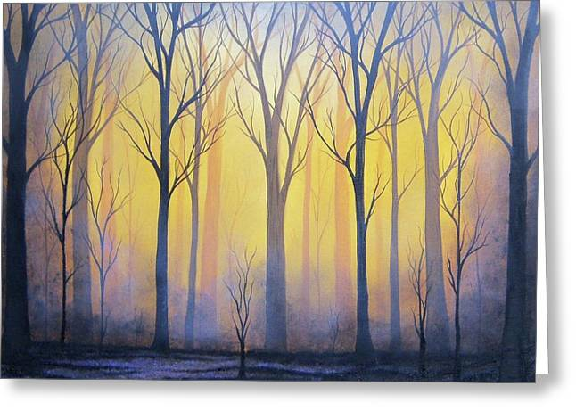 Scorched Earth Greeting Card by Rachel Bingaman