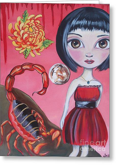 Scorpio Greeting Card by Jaz Higgins