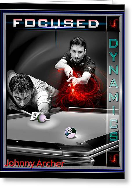 9ball Greeting Cards - Scorpion Johnny Archer Greeting Card by Draw Shots