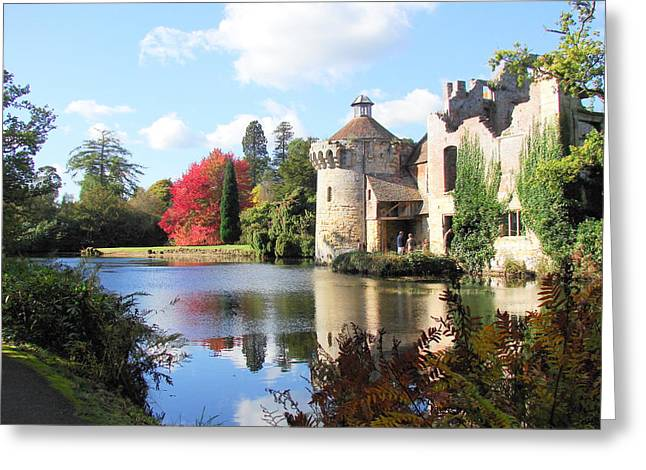Nicola Butt Greeting Cards - Scotney Castle Greeting Card by Nicola Butt